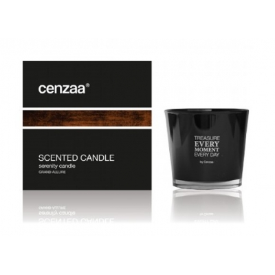 Cenzaa Black Scented Candle Grande Allure