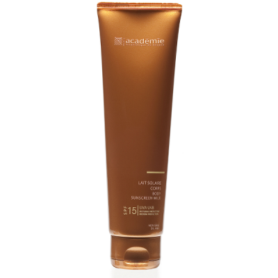 Academie Beaute Lait Solaire Corps SPF15 Moyenne Protection - Body Sunscreen Milk Medium Protection