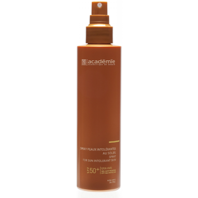 Academie Beaute Spray Peaux Intolérantes Au Soleil SPF50 Très Haute Protection - Spray for Sun Intolerant Skin Very High Protection