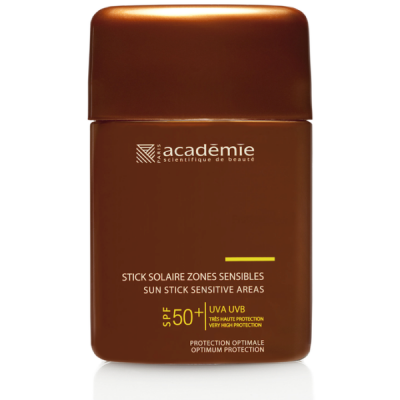 Academie Beaute Stick Solaire Zones Sensibles SPF50 Très Haute Protection - Sun Stick Sensitive Areas