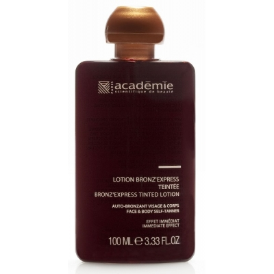 Academie Beaute Lotion Bronz'express Teintée - Tinted Self-Tanning Lotion